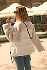 Куртка Из Полиэстра Комбинированная С Овчиной Оversize 0148ШТ, фото 7