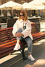 Куртка Из Полиэстра Комбинированная С Овчиной Оversize 0148ШТ, фото 9