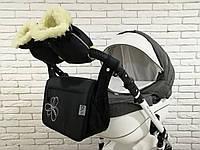 Комплект сумка и рукавички на коляску Ok Style New (Черный), фото 1