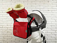 Комплект сумка и рукавички на коляску Ok Style New (Красный), фото 1