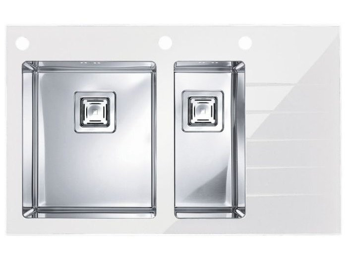 Кухонная мойка Alveus Cristalix 20 R (стекло белое) (с доставкой)