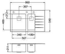 Кухонная мойка Alveus Cristalix 20 R (стекло белое) (с доставкой), фото 3