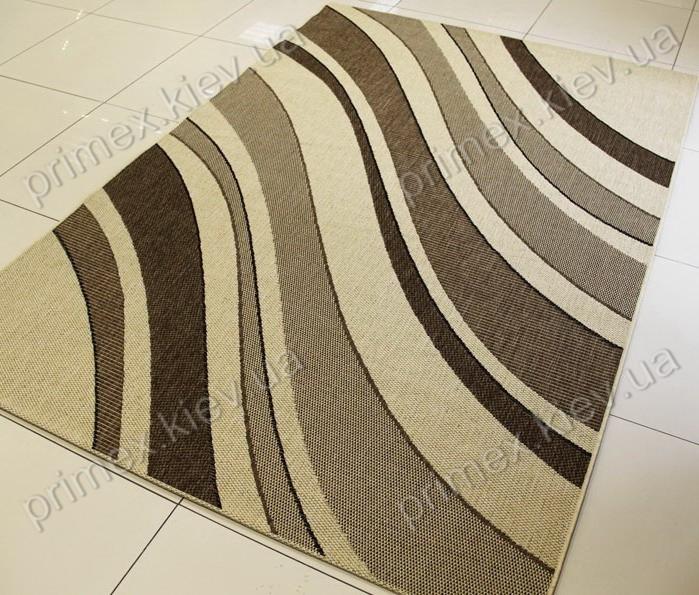 Безворсовий килим-рогожка Balta Decora смуги світло-коричневий