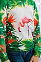 Свитшот для девочки с модным принтом Фламинго Размеры 128, 134, фото 3