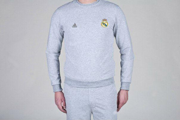 Мужской спортивный костюм Adidas-Real Madrid, Реал Мадрид, Адидас, серый