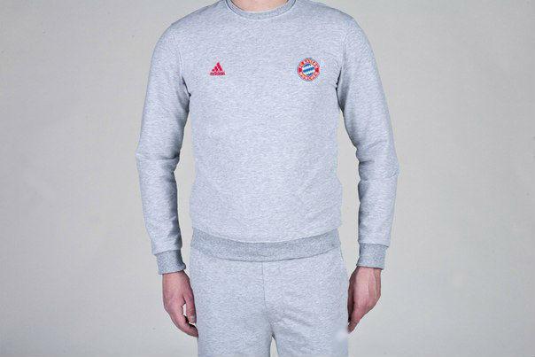Мужской спортивный костюм Adidas-Bayern, Бавария, Адидас, серый