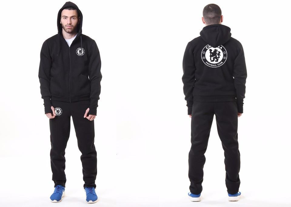 Мужской спортивный костюм Adidas-Chelsea, Челси, Адидас, черный