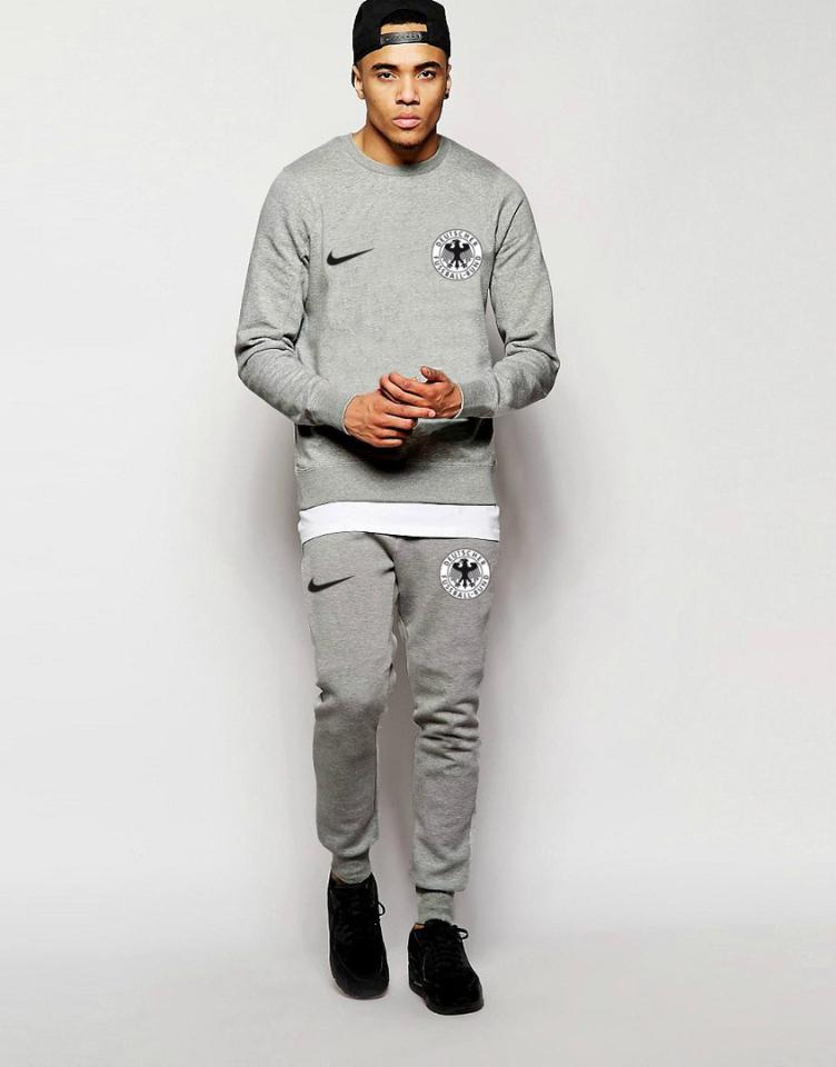 Мужской спортивный костюм сборной Германии, серый