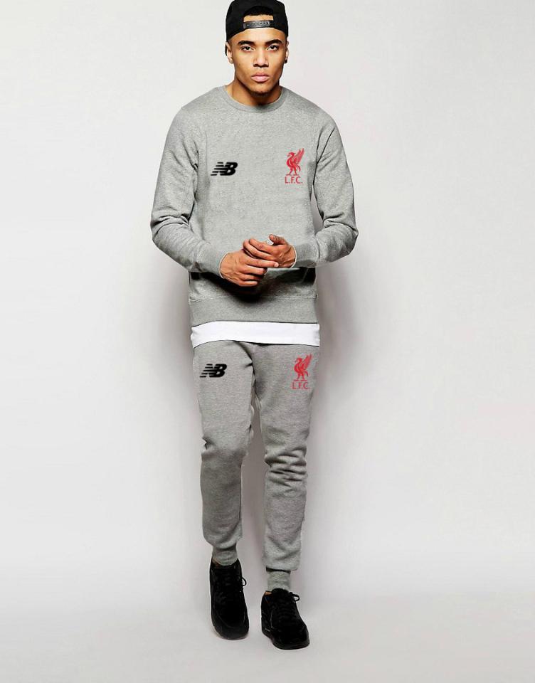 Мужской спортивный костюм NB-Liverpool, Ливерпуль, Нью Беленс, серый