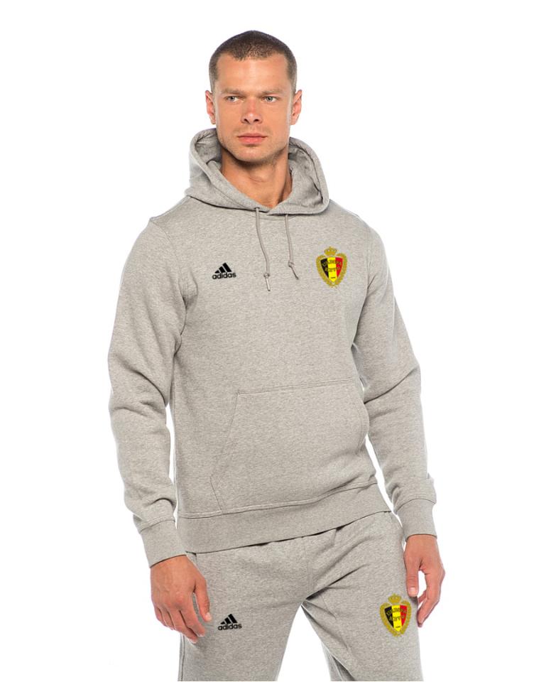 Мужской спортивный костюм сборной Бельгии, Belgium, Adidas, Адидас, серый
