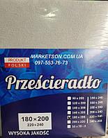 Простынь наматрасник 200х220 махровая на резинке. Польша.