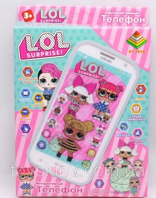 Детский интерактивный телефон Куклы ЛОЛ LOL DT-030H