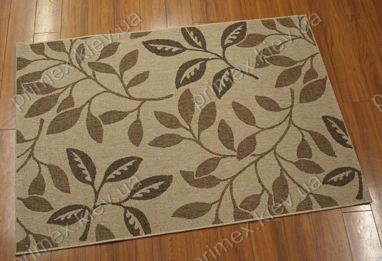 Безворсовый ковер-рогожка Бельгия Balta Decora ветви коричневый