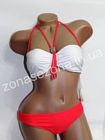 Женский купальник Teres 2180 коралловый со съёмной лямкой