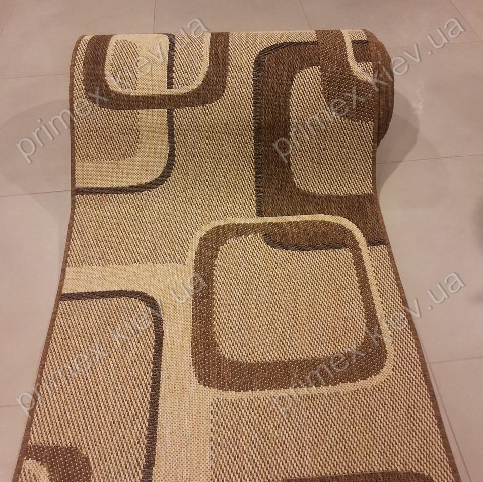 Безворсовый ковер-рогожка Balta Decora бублики коричневый