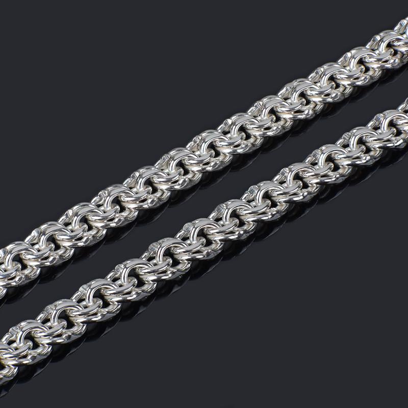 Серебряная крупная цепочка Бисмарк 50 см