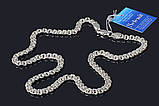 Серебряная крупная цепочка Бисмарк 50 см, фото 2
