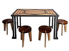 Комплект мебели из натурального дерева