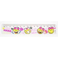 Лінійка пластикова 15см для дівчаток