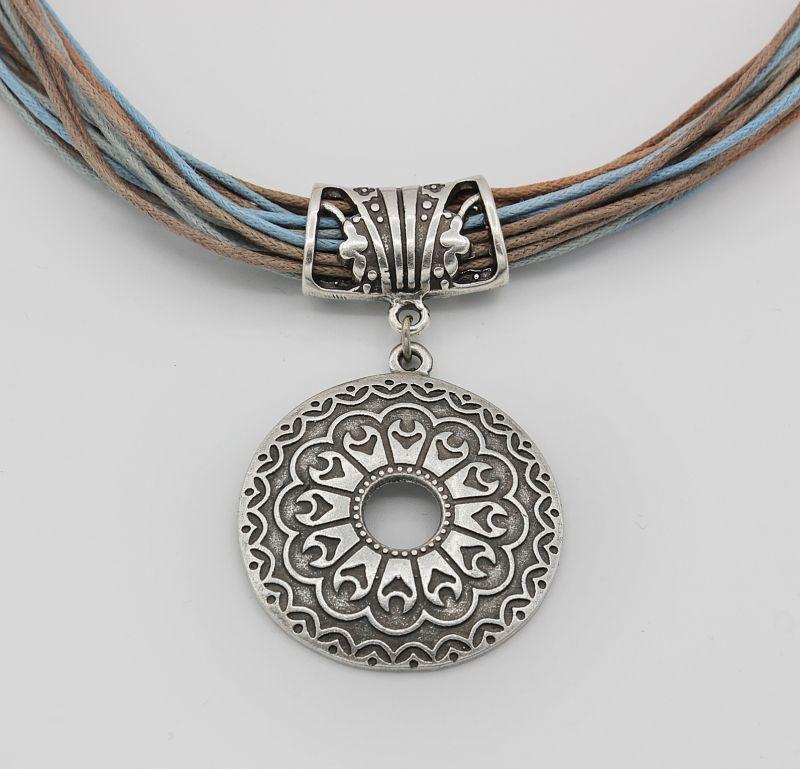 Кулон металлический круглый с орнаментом на шнурке Керамика ТМ Скифская Этника