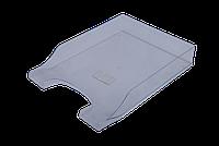 Горизонтальный лоток для бумаг arnika 80802 Симметрия прозрачный пластик