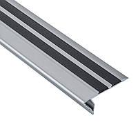Профиль алюминиевый для ступеней с LED подсветкой BRAZ Line 23х53х3000 мм