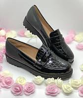 Черные туфли лаковые