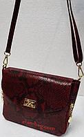 Кожаная сумка через плечо с принтом питона