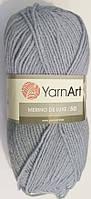 Пряжа для ручного вязания Yarnart Merino De Luxe 50(мерино де люкс 50) нитки зимняя пряжа 3072 джинс