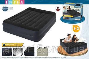 Надувне ліжко Intex 64124 (152x203x42 см) з вбудованим насосом