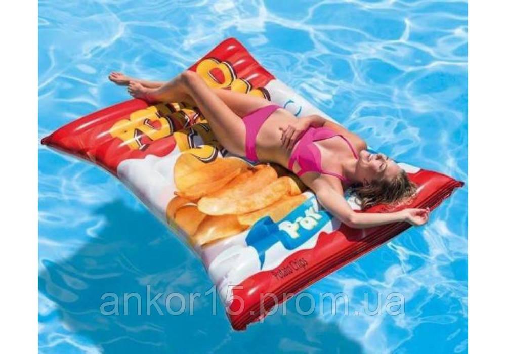Пляжный надувной матрас - плот Intex 58776 Чипсы (178 х 140 см)