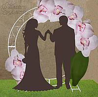 Арка на свадьбу круглая с оформлением Орхидеи Аренда