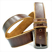 Ремень мужской кожаный Weatro Коричнево-рыжий 0366m-4kozh