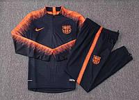 Детский костюм тренировочный Барселона синий сезон 18-19