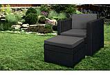 Садове крісло з додатковим столиком та подушкою PROVENCE CHILLOUT SET темно-коричневий ( Keter ), фото 5