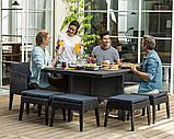 Комплект садових меблів зі штучного ротангу COLUMBIA SET 9 PCS графіт (Keter), фото 6
