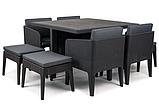 Комплект садових меблів зі штучного ротангу COLUMBIA SET 9 PCS графіт (Keter), фото 7