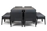 Комплект садових меблів зі штучного ротангу COLUMBIA SET 9 PCS графіт (Keter), фото 10