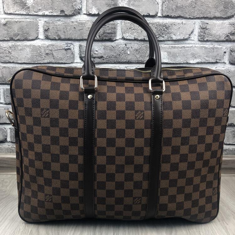 Модная сумка для ноутбука Louis Vuitton LV коричневая мужская сумка для ноутбука Луи Виттон VIP реплика
