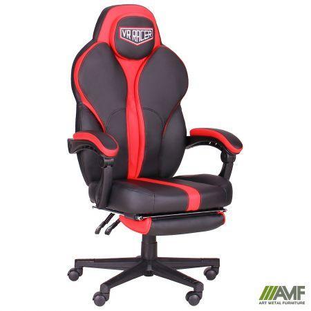 Крісло VR Racer Edge Iron чорний/червоний