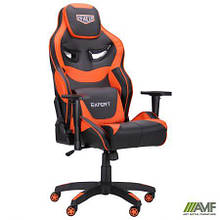 Кресло VR Racer Expert Genius черный/оранжевый