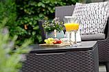 Комлект садових меблів зі штучного ротангу SALEMO 3 SEATER SET темно-коричневий (Keter), фото 5