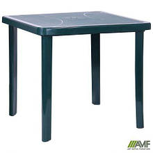 Стіл Nettuno 80х80 пластик зелений 15
