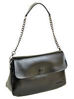 Прямоугольная сумочка из натуральной кожи 03-1 8605 black, фото 1