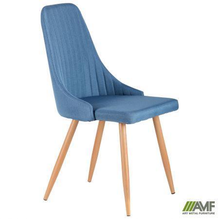 Стілець Jasmine каркас бук/тканина колір синьо-сірий