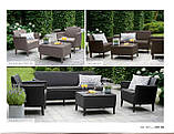 Комплект садових меблів зі штучного ротангу SALEMO SET темно-коричневий ( Keter ), фото 8