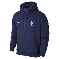 Мужская спортивная толстовка (кофта) сборной Бразилии-Найк, Brazil, Nike, синяя