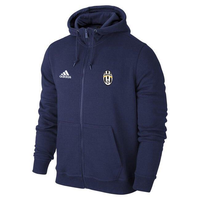 Мужская спортивная толстовка (кофта) Ювентус-Адидас, Juventus, Adidas, синяя