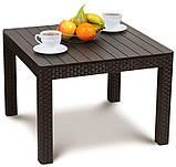 Комплект садових меблів зі штучного ротангу ORLANDO SET WITH SMALL TABLE капучіно ( Allibert ), фото 4