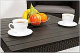 Комплект садових меблів зі штучного ротангу ORLANDO SET WITH SMALL TABLE капучіно ( Allibert ), фото 5